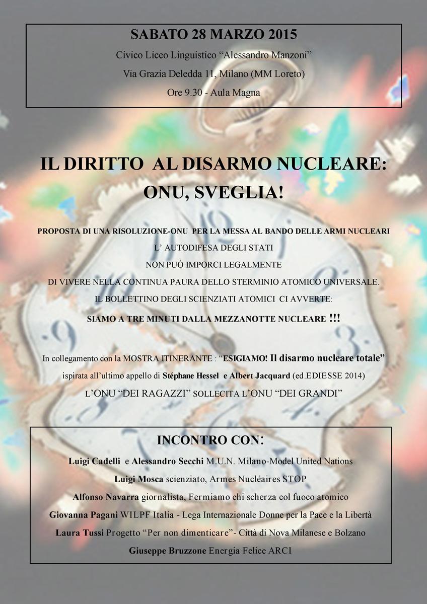 Il diritto al disarmo nucleare - incontro a Milano