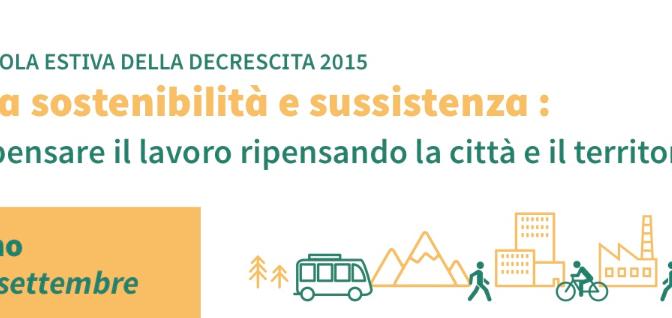 6-12 settembre: Scuola estiva della decrescita a Torino
