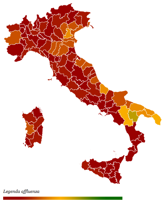 affluenza e risultati Referendum 17 aprile 2016