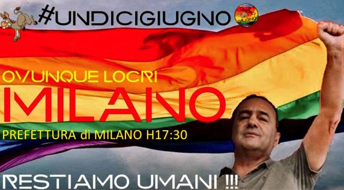 Presidio per Mimmo Lucano: Restiamo Umani