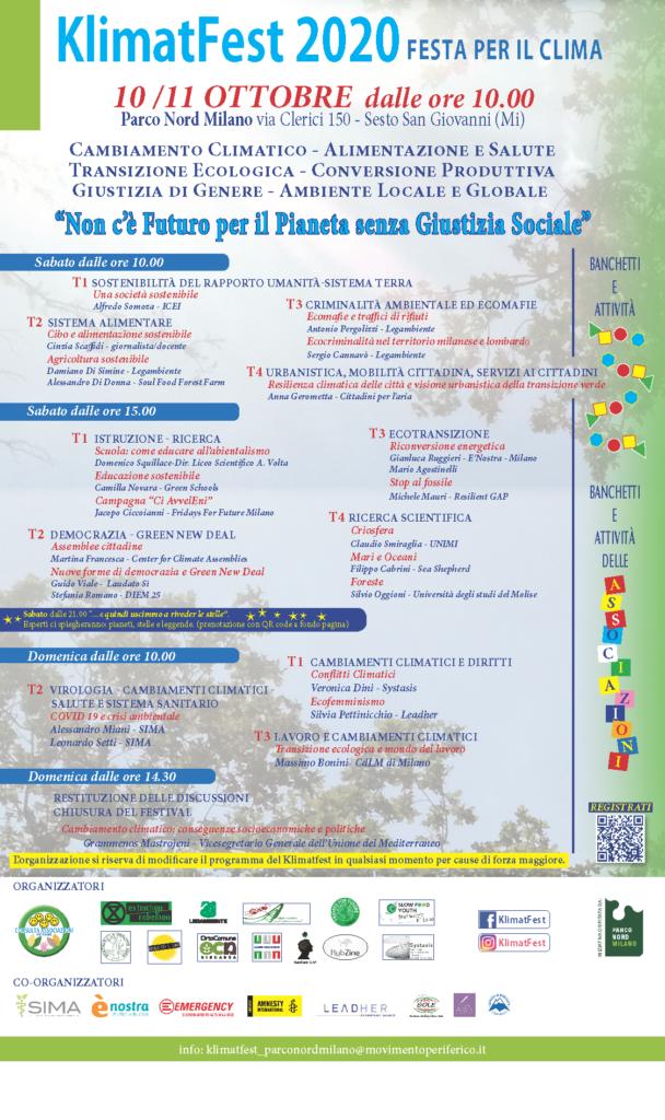 KlimatFest 2020 10/11 ottobre dalle ore 10.00 Parco Nord Milano - Via Clerici 150 - Sesto San Giovanni (MI)