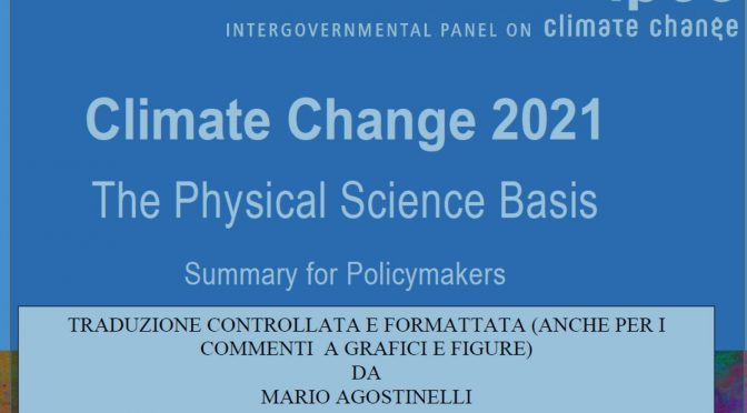 Climate Change 2021, in italiano